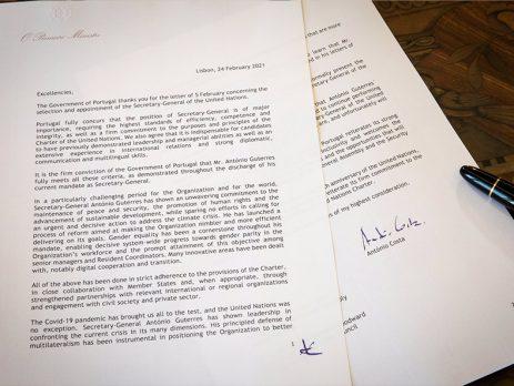 """Liderança de António Guterres representa """"força"""" e """"esperança"""" para as causas comuns da humanidade"""